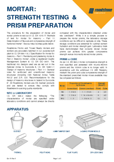 Download Mortar Strength Testing & Prism Preparation