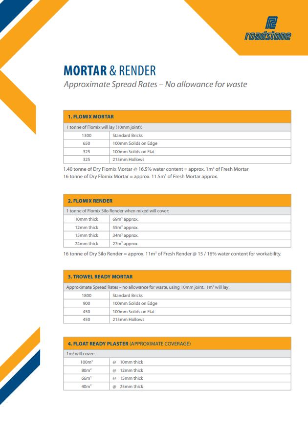Download Mortar and Render Spread Guide