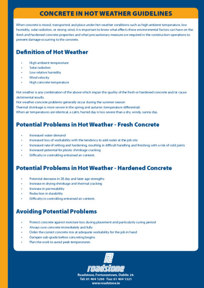 Download Concrete in Hot Weather