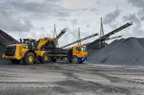 Loading Agg at Roadstone