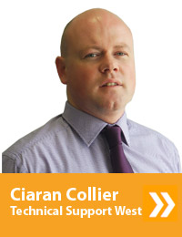 Ciaran Collier, Technical Support - West, (01-4041373)