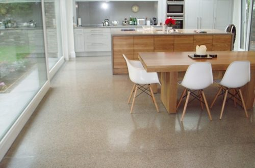 Polished Concrete - Kitchen Floor