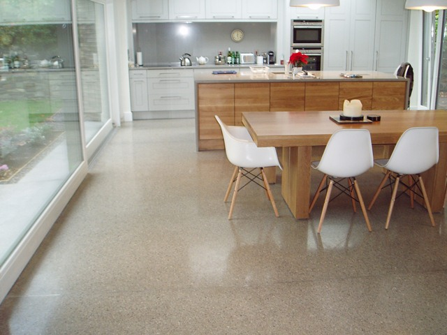 polished concrete floor. Brilliant Floor Polished Concrete  Kitchen Floor  For T