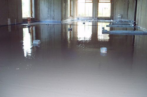 Quick Floor Screed in commercial outlet (laid in 1 hour)