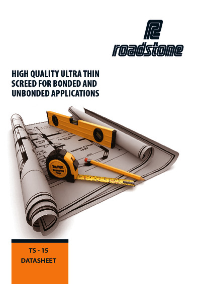 Download Quick Floor Screed - TS 15