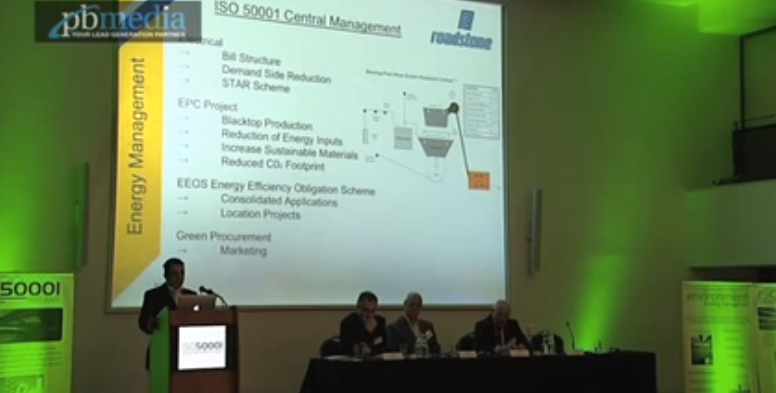 Kevin Donovan at the ISO50001 Ireland conference 2015