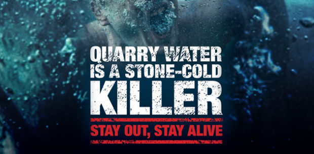 Quarry danger, cold water