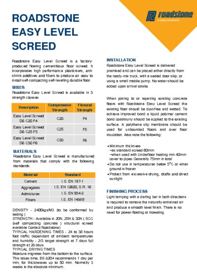 Download Easy Level Screed data sheet