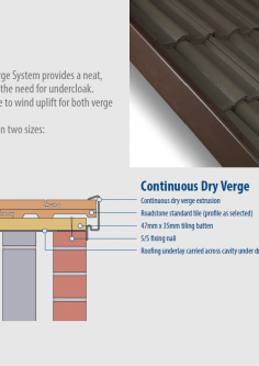 Continuous Dry Verge system fixing guide